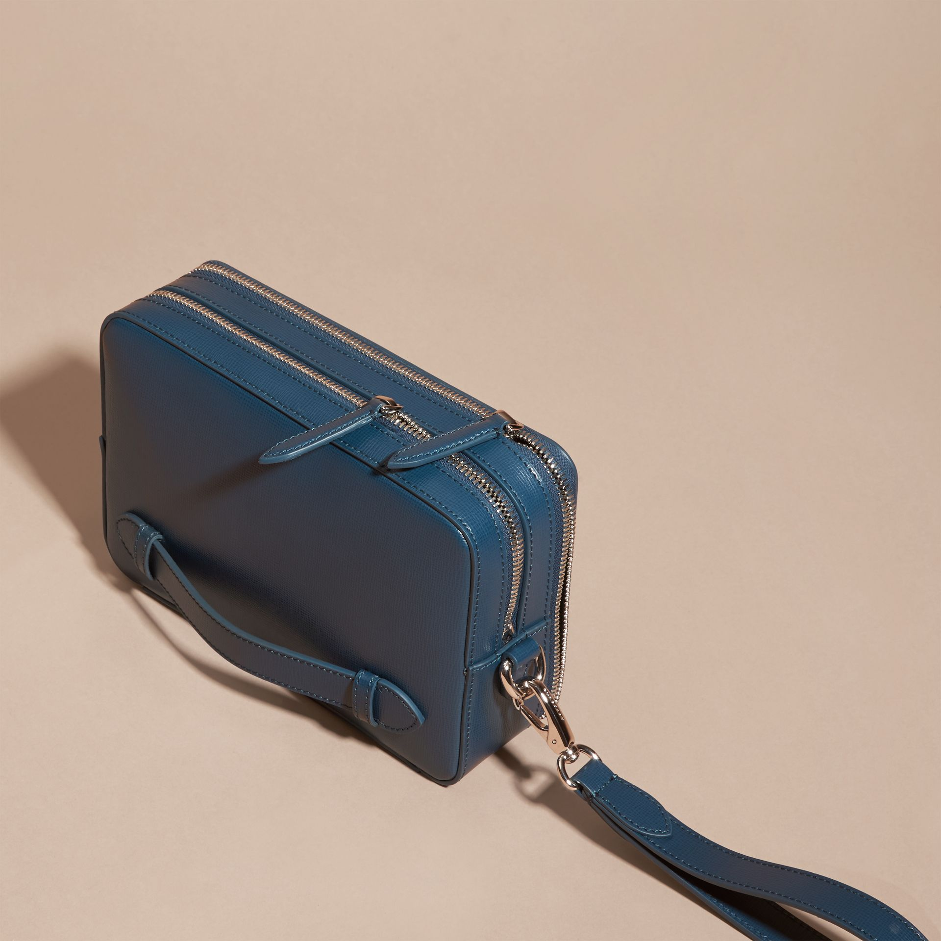 Mineral blue London Leather Pouch Mineral Blue - gallery image 3