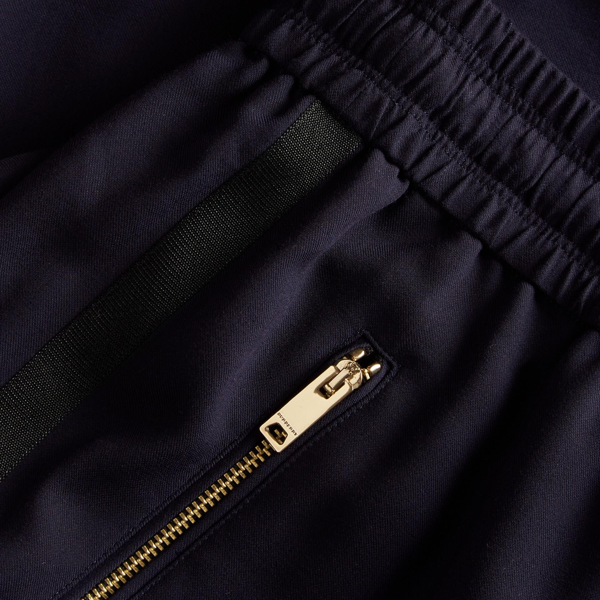 Zip Detail Jersey Sweat Pants Navy - gallery image 2