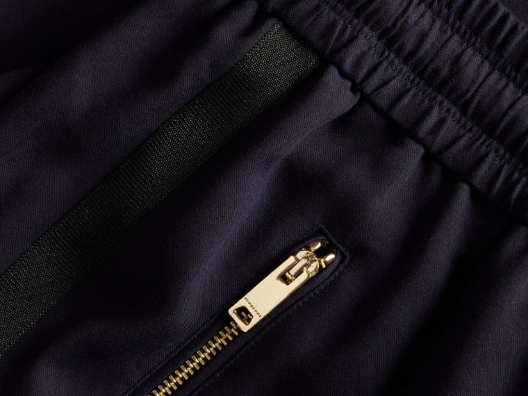 Zip Detail Jersey Sweat Pants Navy - cell image 1
