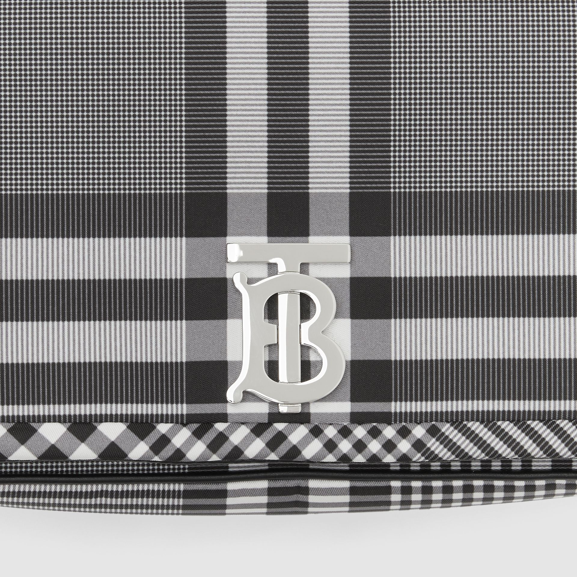 Small Check Nylon Lola Bag in Black/white - Women | Burberry Australia - gallery image 1