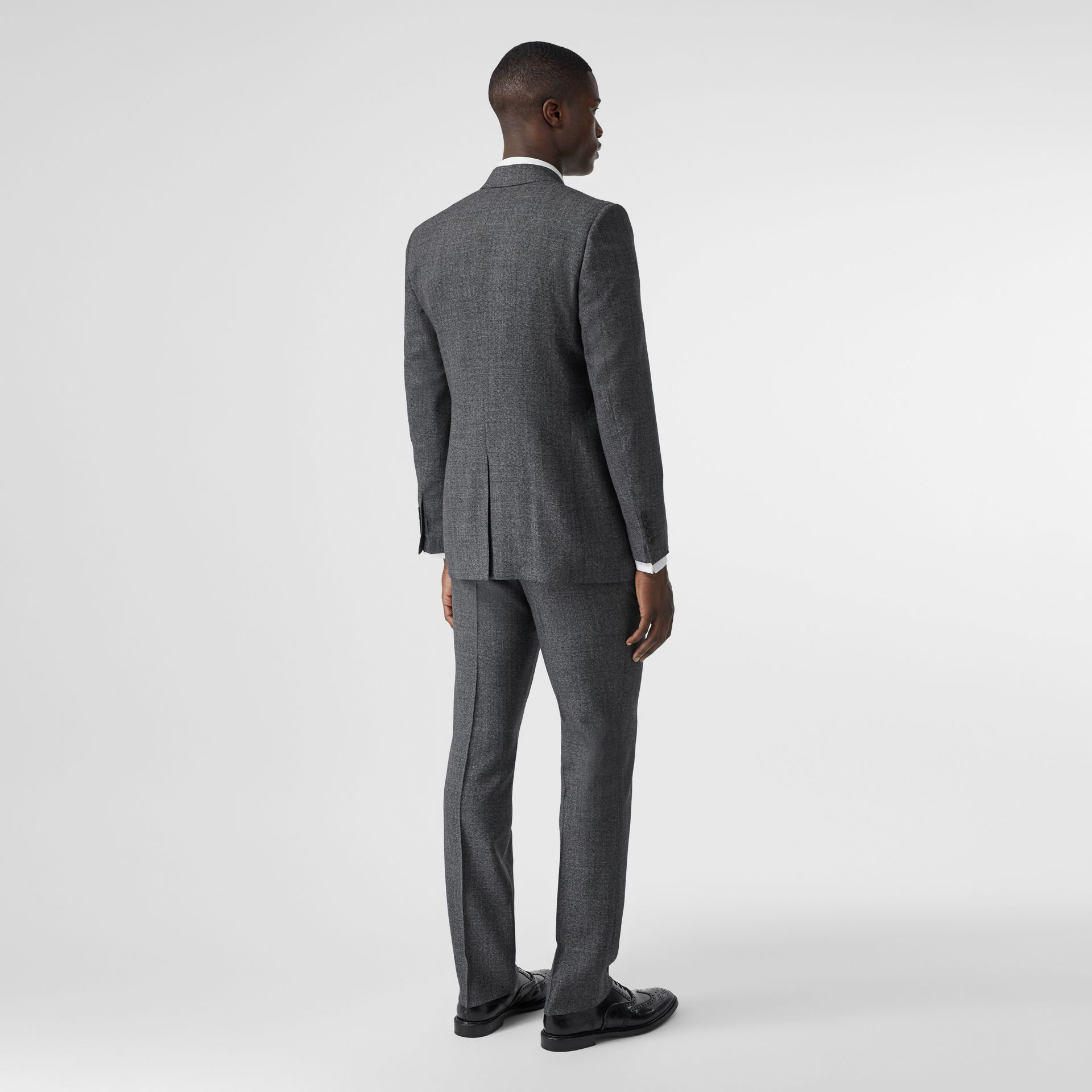 Classic Fit Melange Wool Three-piece Suit in Charcoal - Men | Burberry - gallery image 2