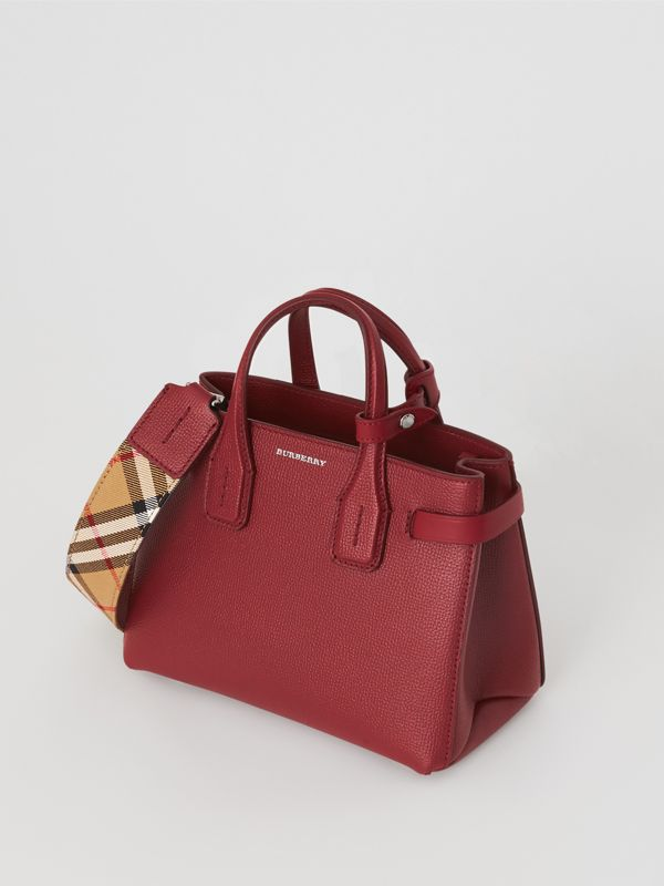 The Baby Banner in Leather and Vintage Check in Crimson - Women | Burberry - cell image 2