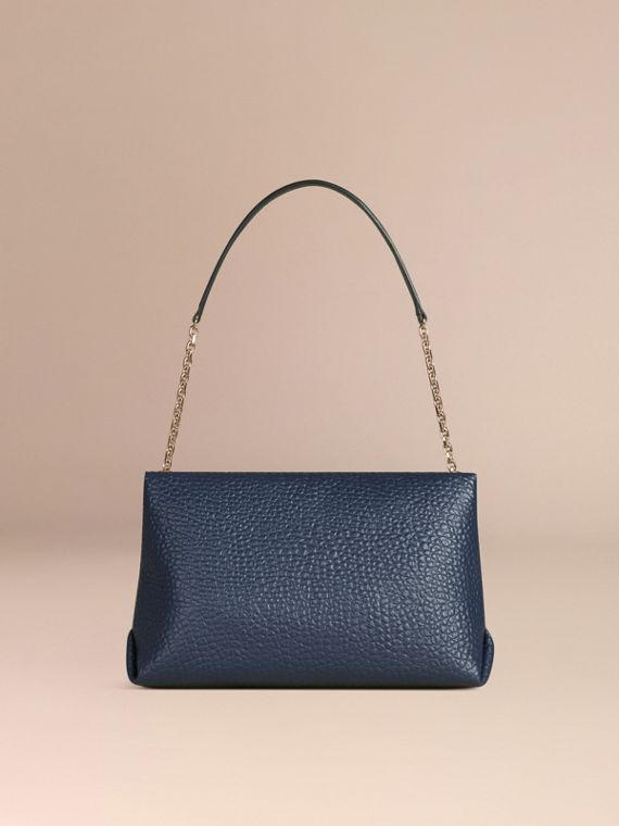 Blue carbon Large Signature Grain Leather Shoulder Bag Blue Carbon - cell image 3