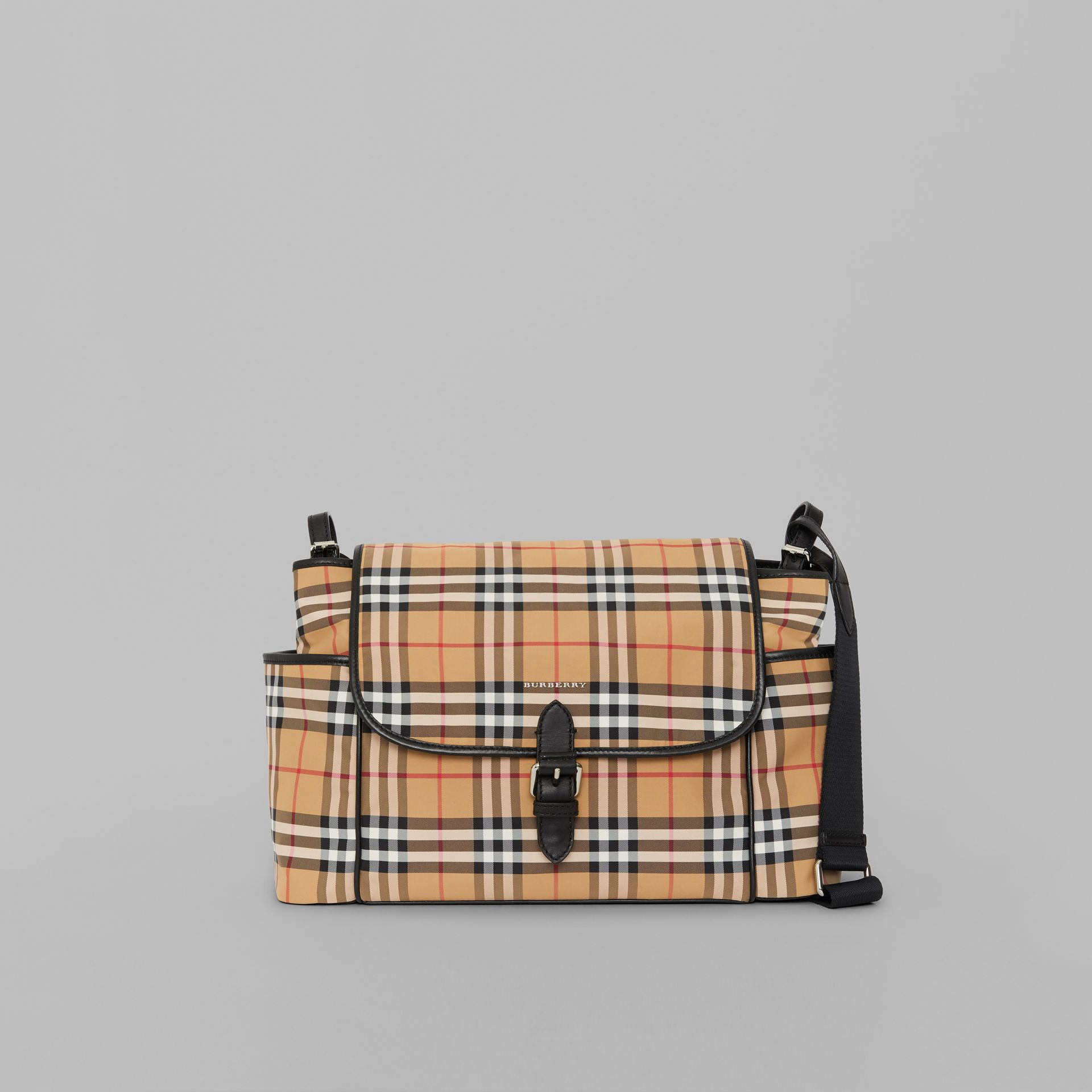 Vintage Check Baby Changing Shoulder Bag in Antique Yellow/black - Children | Burberry - gallery image 0
