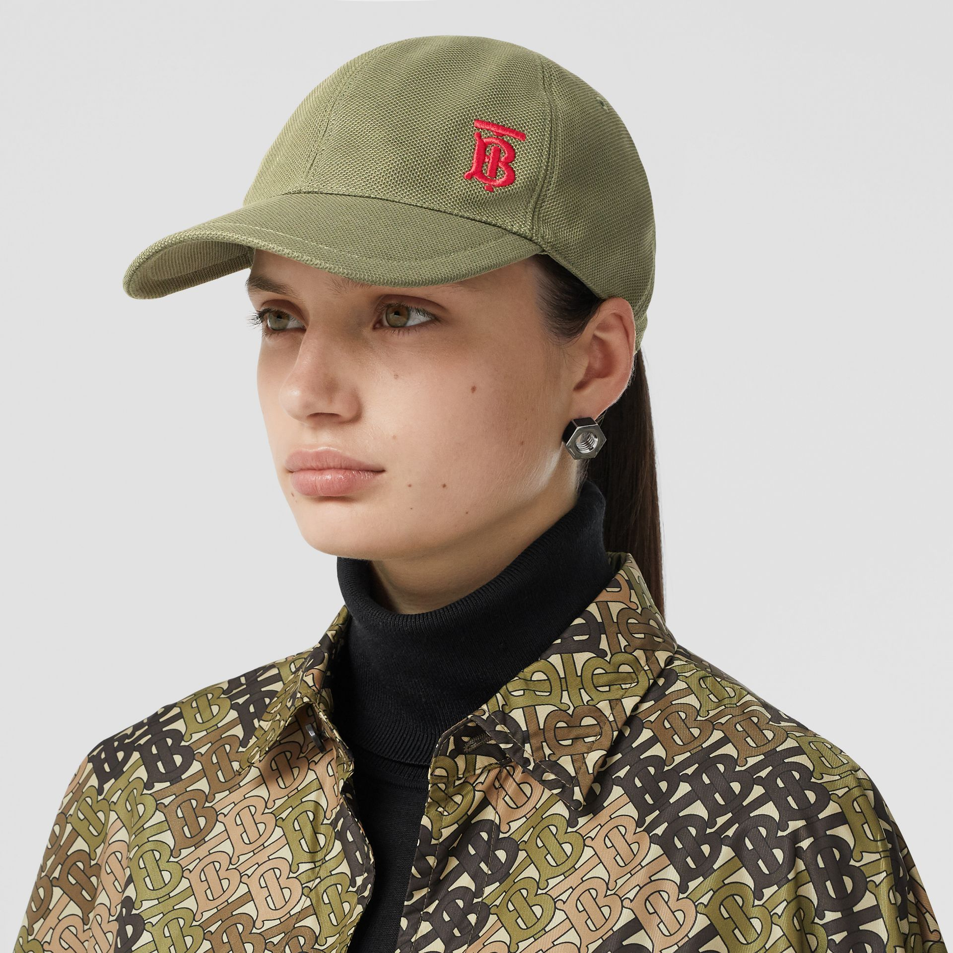 Monogram Motif Baseball Cap in Poplar Green | Burberry Hong Kong S.A.R - gallery image 2