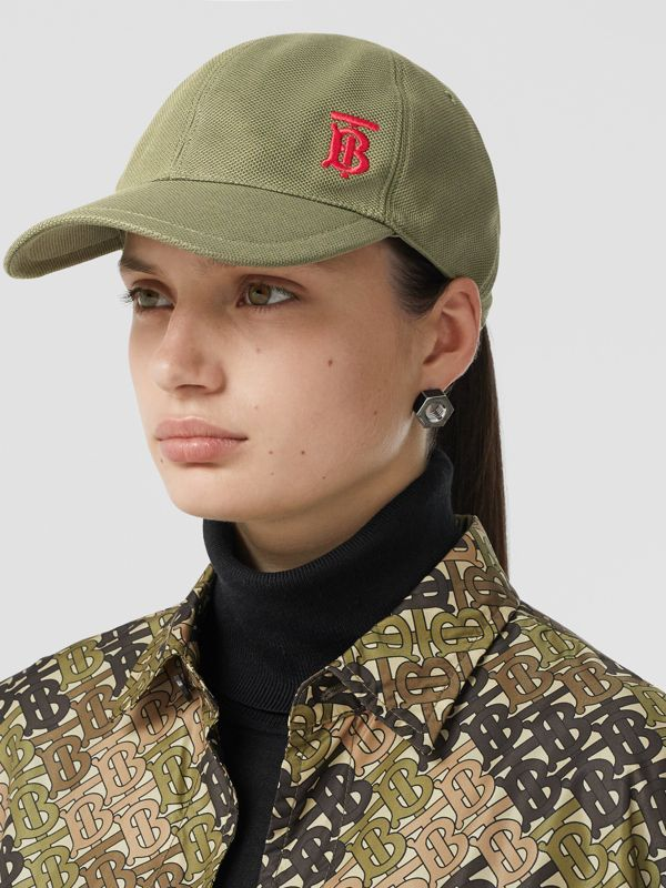 Monogram Motif Baseball Cap in Poplar Green | Burberry Australia - cell image 2