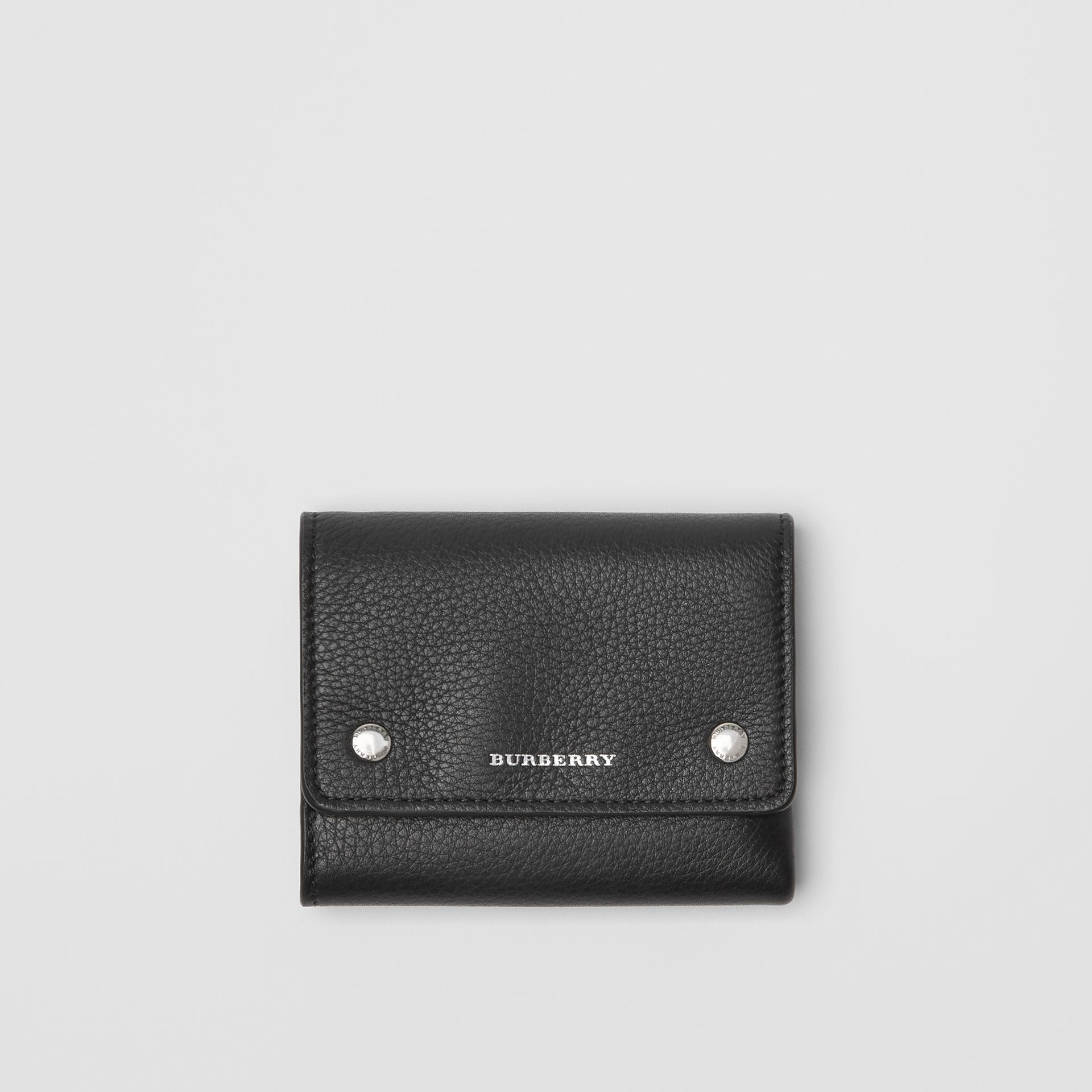 Small Leather Folding Wallet in Black - Women | Burberry - gallery image 0