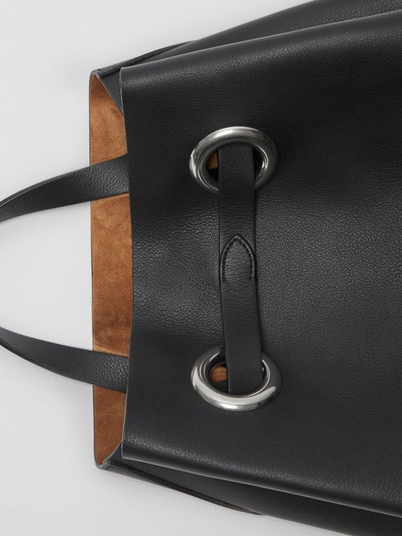 The Leather Grommet Detail Backpack in Black - Women | Burberry Singapore - cell image 1