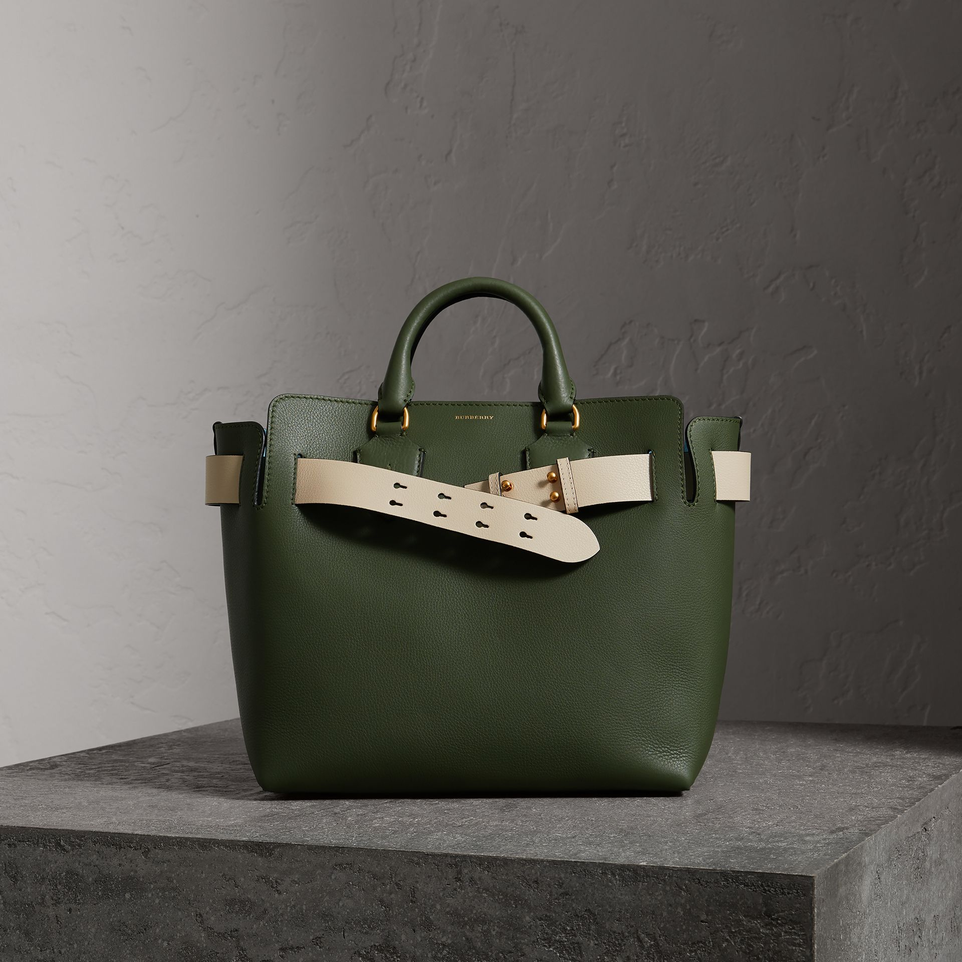 The Medium Leather Belt Bag in Sage Green - Women | Burberry Canada - gallery image 0
