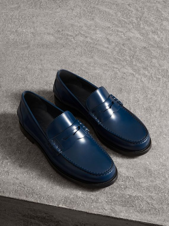 Penny loafer in pelle (Navy)