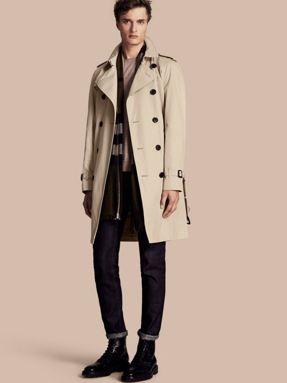 The Wiltshire – Long Heritage Trench Coat Stone