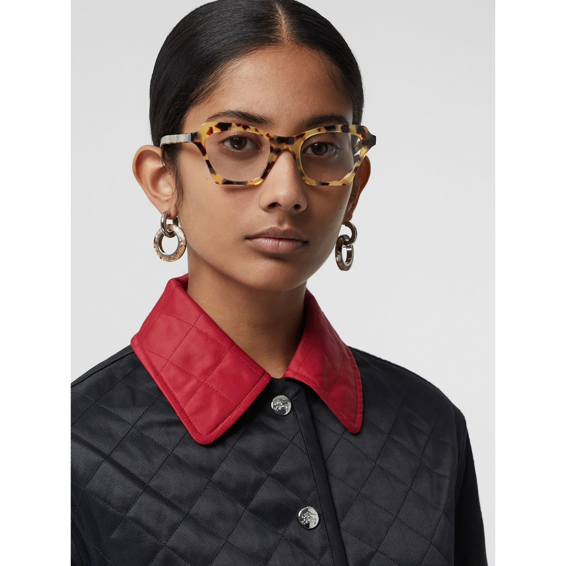 Butterfly Optical Frames in Tortoise Shell - Women | Burberry Singapore - gallery image 2