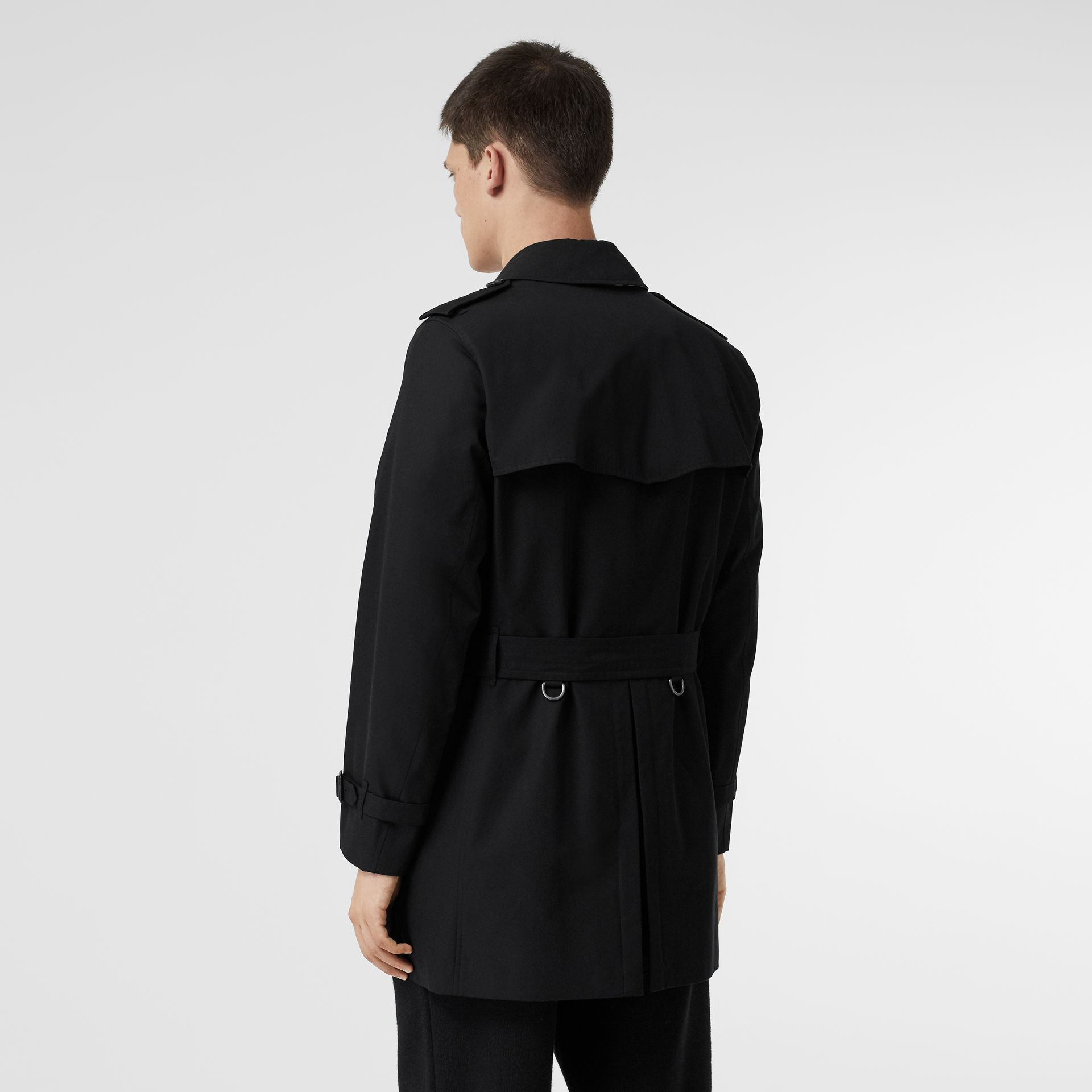 Cotton Gabardine Trench Coat in Black - Men | Burberry United Kingdom - gallery image 2