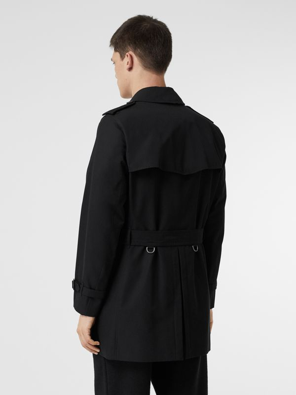 Cotton Gabardine Trench Coat in Black - Men | Burberry United Kingdom - cell image 2