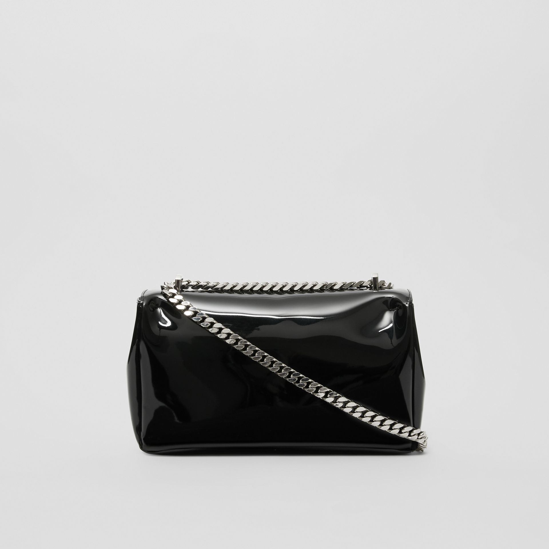 Small Tape Print Laminated Lola Bag in Black | Burberry - gallery image 6