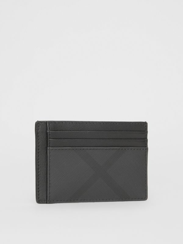 London Check and Leather Card Case in Dark Charcoal - Men | Burberry United Kingdom - cell image 3