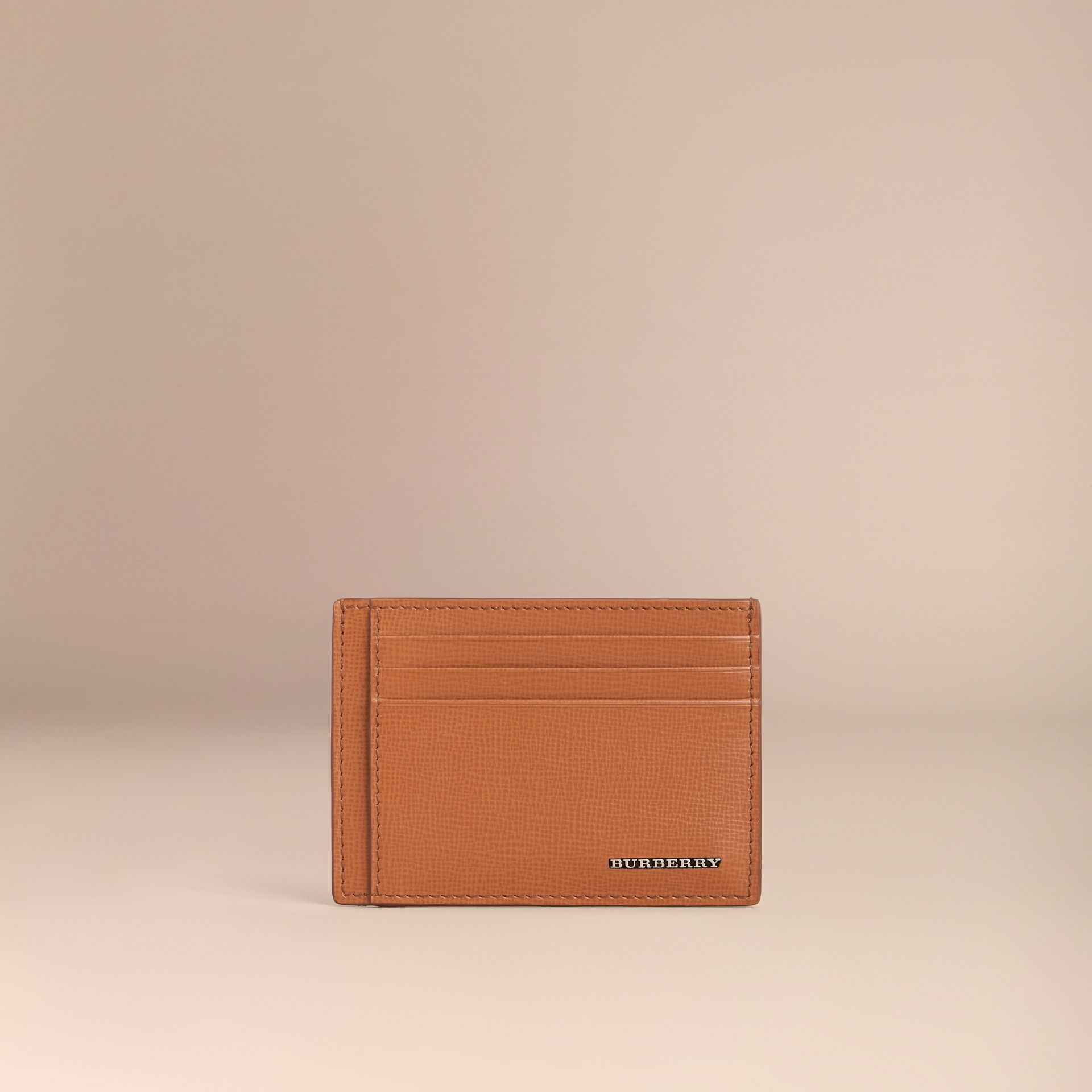 London Leather Card Case Tan - gallery image 2