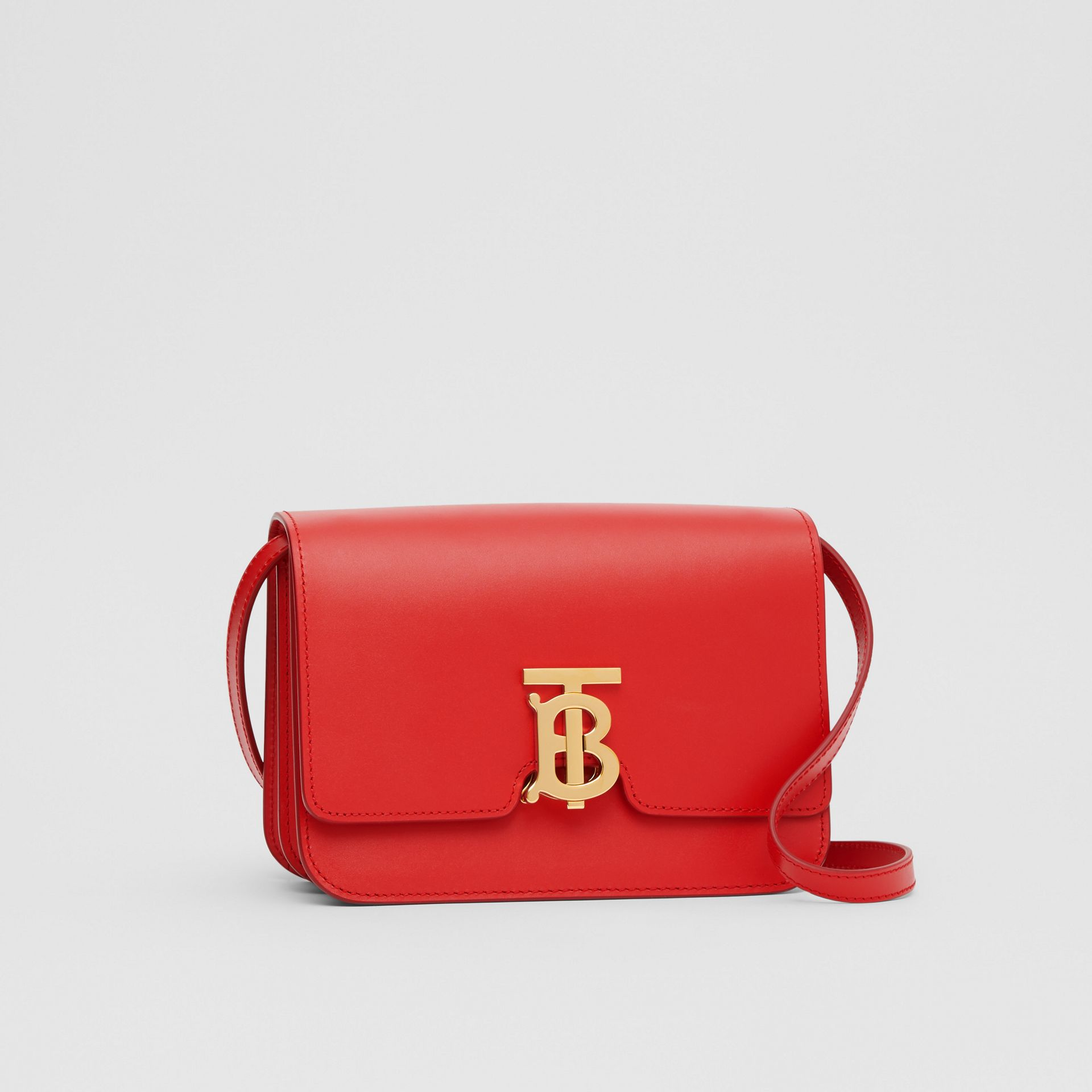 Small Leather TB Bag in Bright Red - Women | Burberry United Kingdom - gallery image 4