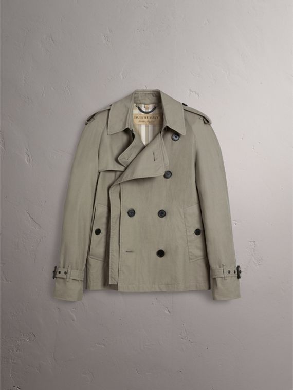 Unisex Tropical Gabardine Trench Jacket in Slate Green - Women | Burberry - cell image 2