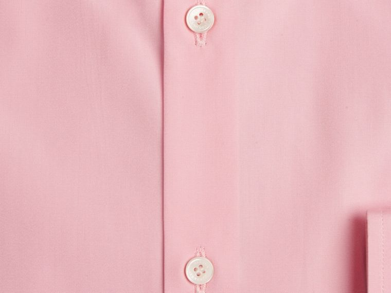 Modern Fit Cotton Poplin Shirt in City Pink - Men | Burberry - cell image 1