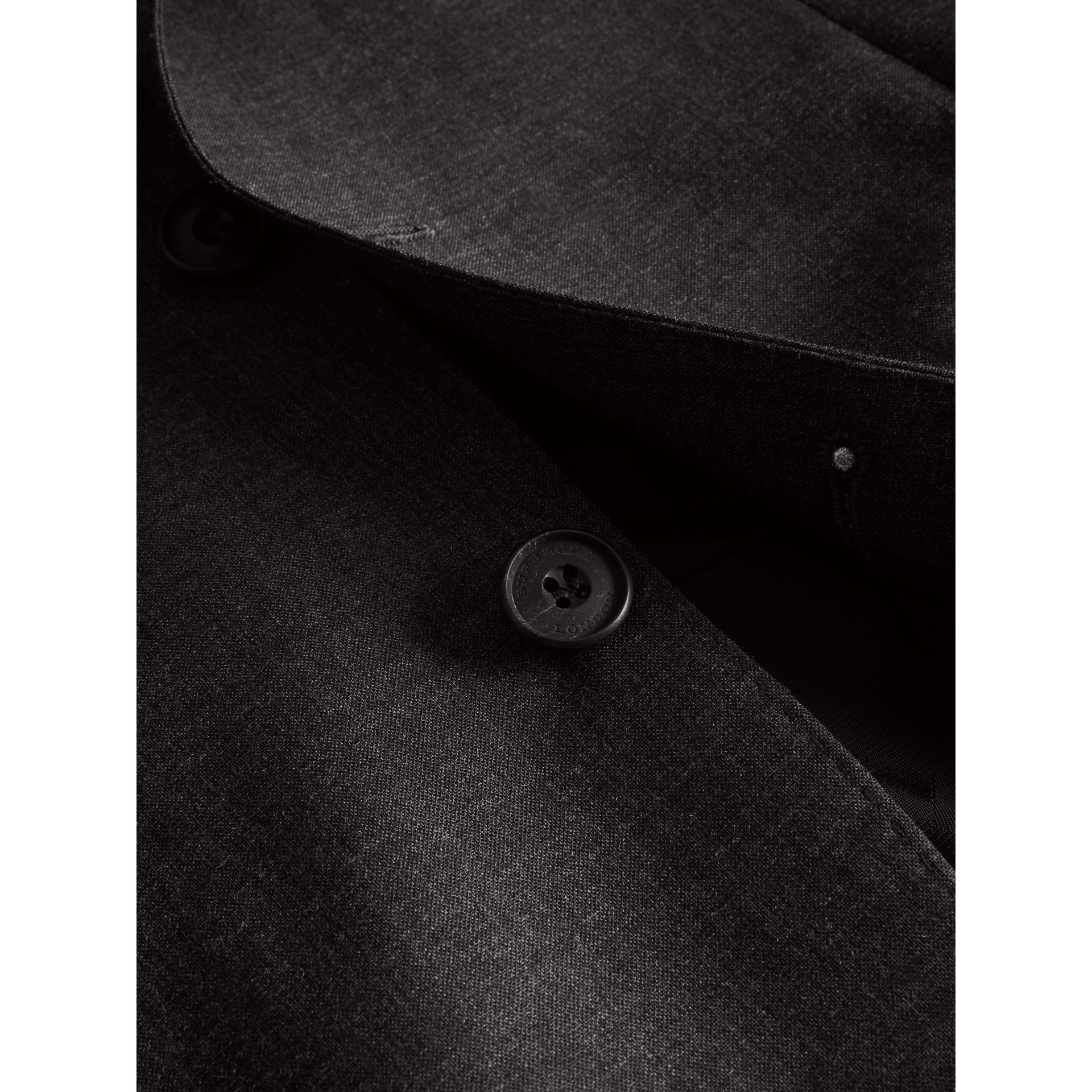 Modern Fit Wool Part-canvas Suit in Charcoal - Men | Burberry - gallery image 1