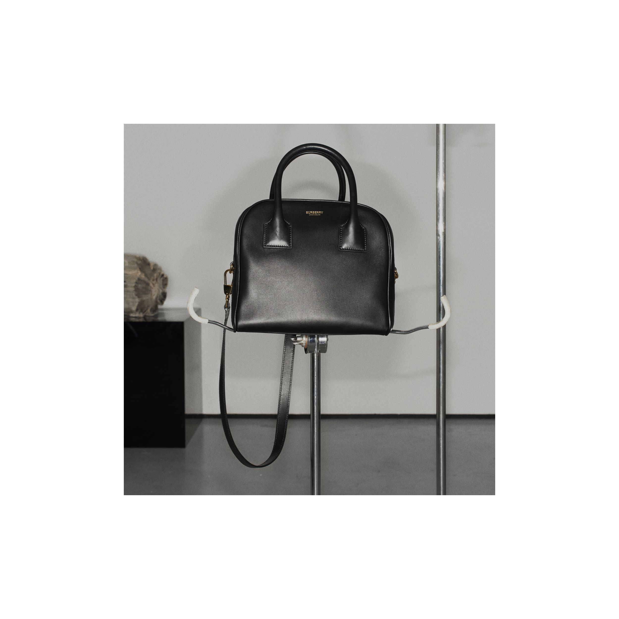 Small Leather Cube Bag in Black - Women | Burberry - 2