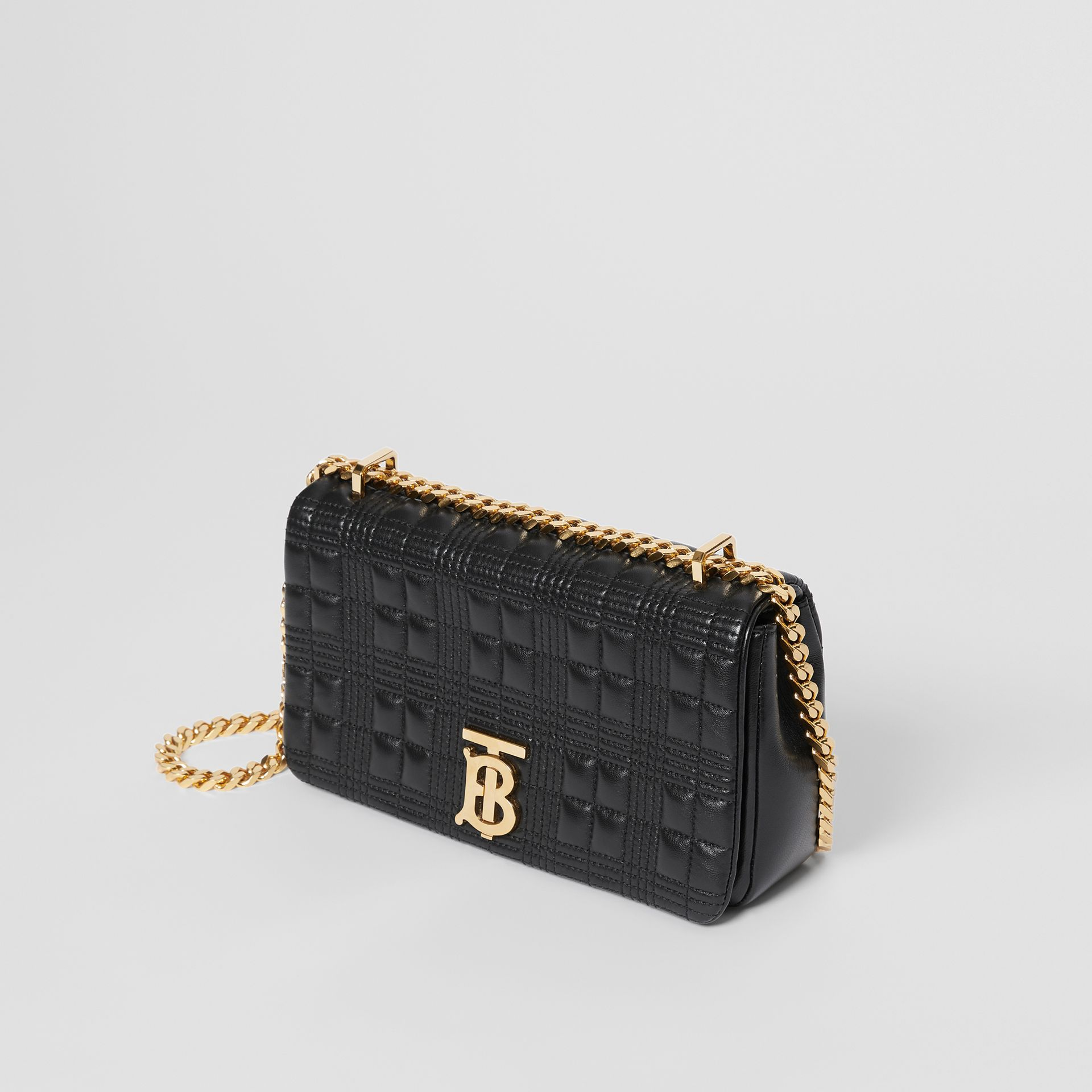 Small Quilted Check Lambskin Lola Bag in Black - Women | Burberry - gallery image 3