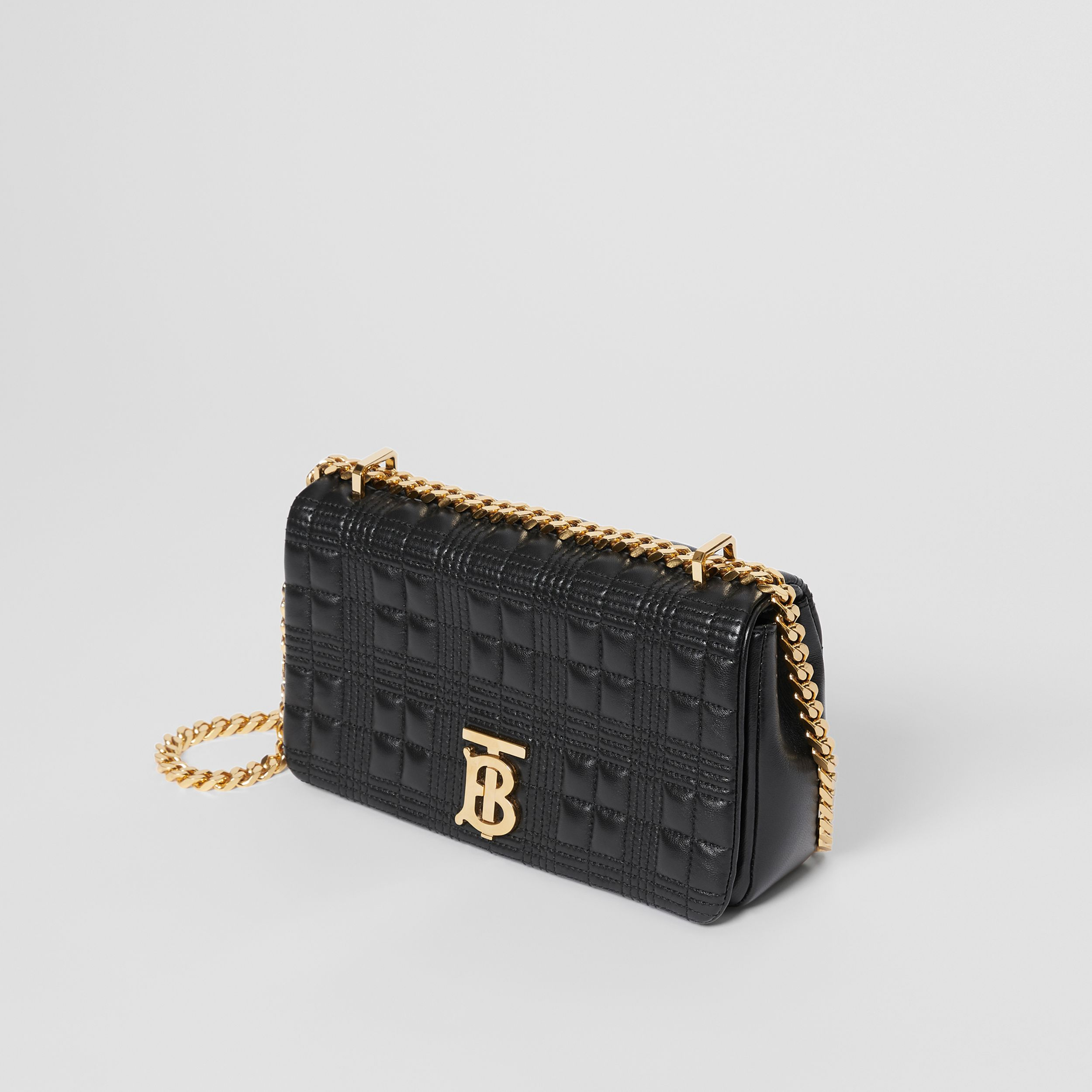 Small Quilted Lambskin Lola Bag in Black/light Gold | Burberry - 4