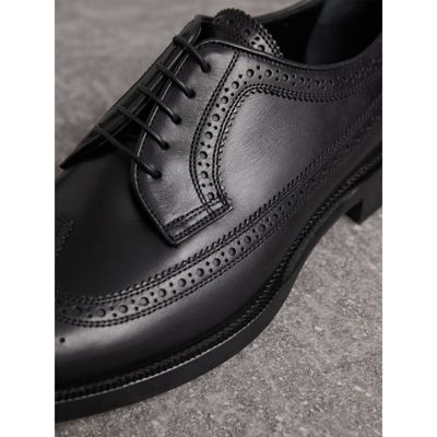 Burberry - Chaussures richelieu de style derby en cuir - 2