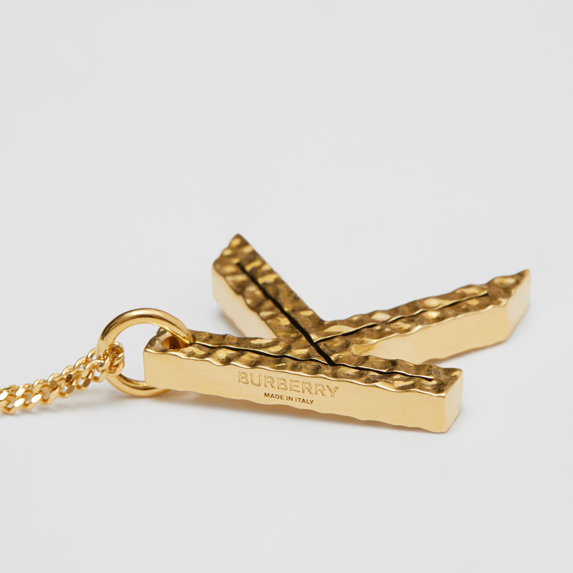 'K' Alphabet Charm Gold-plated Necklace in Light - Women | Burberry United Kingdom - gallery image 1
