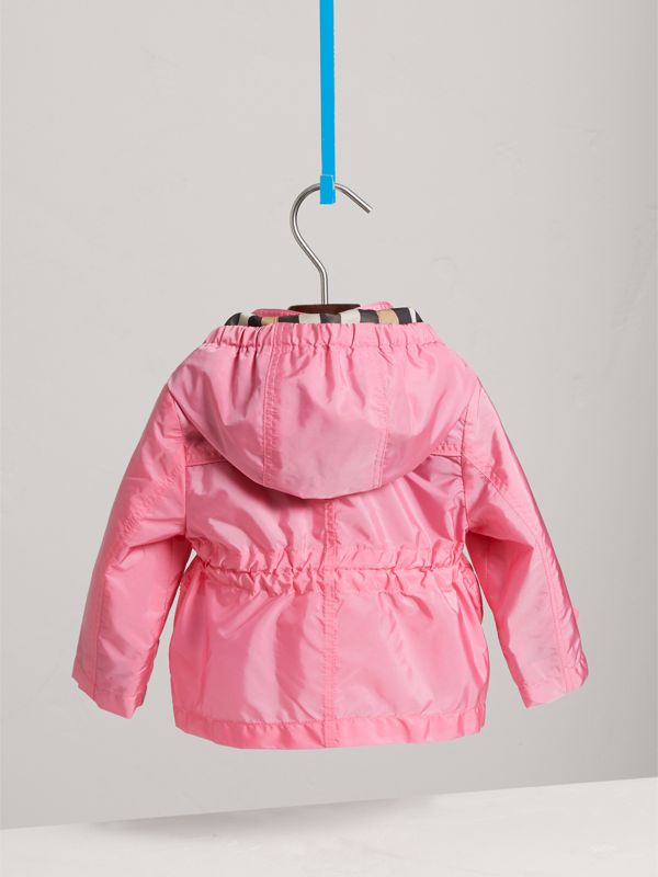 Hooded Packaway Technical Jacket in Peony | Burberry - cell image 3