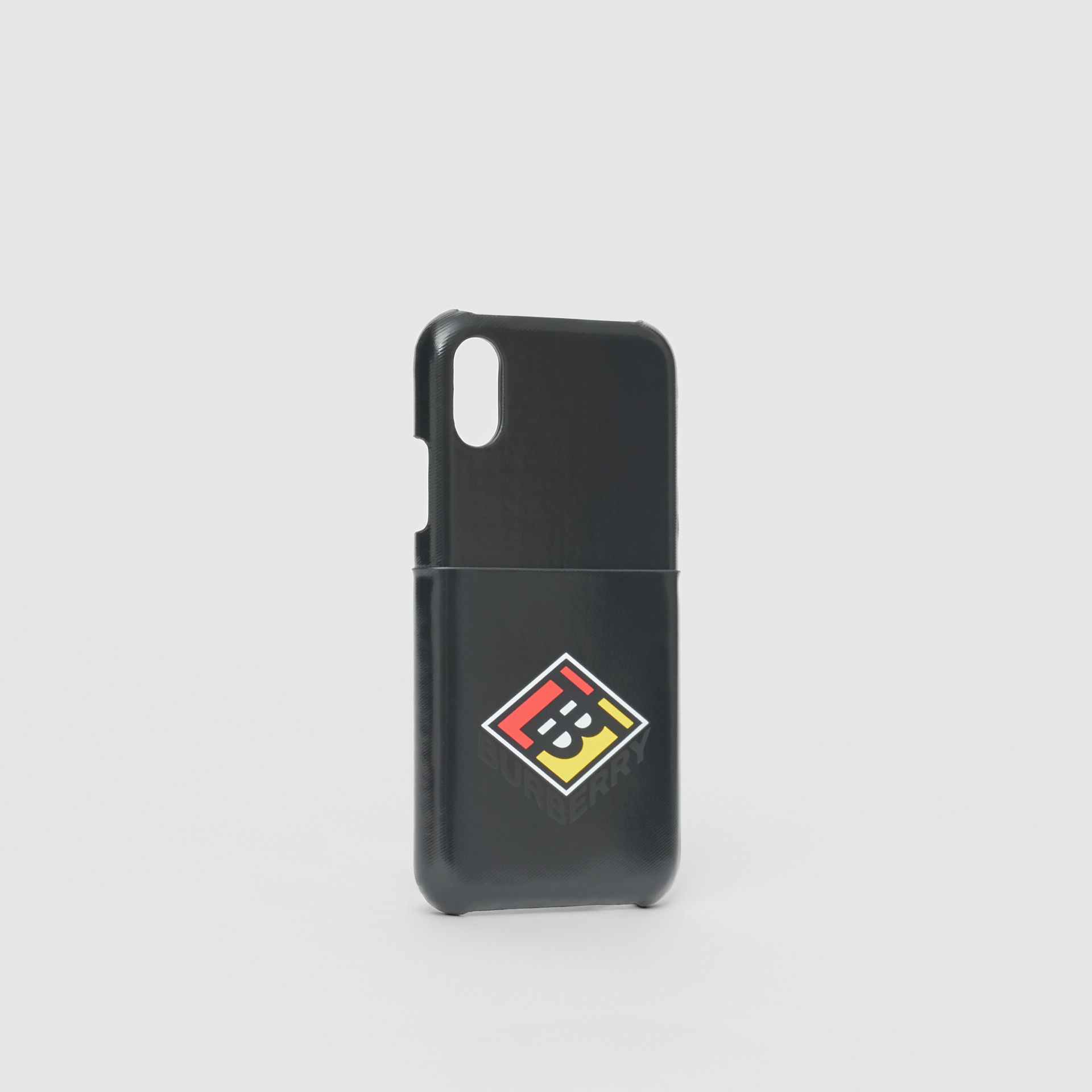 Logo Graphic Canvas iPhone X/XS Case in Black | Burberry Canada - gallery image 2