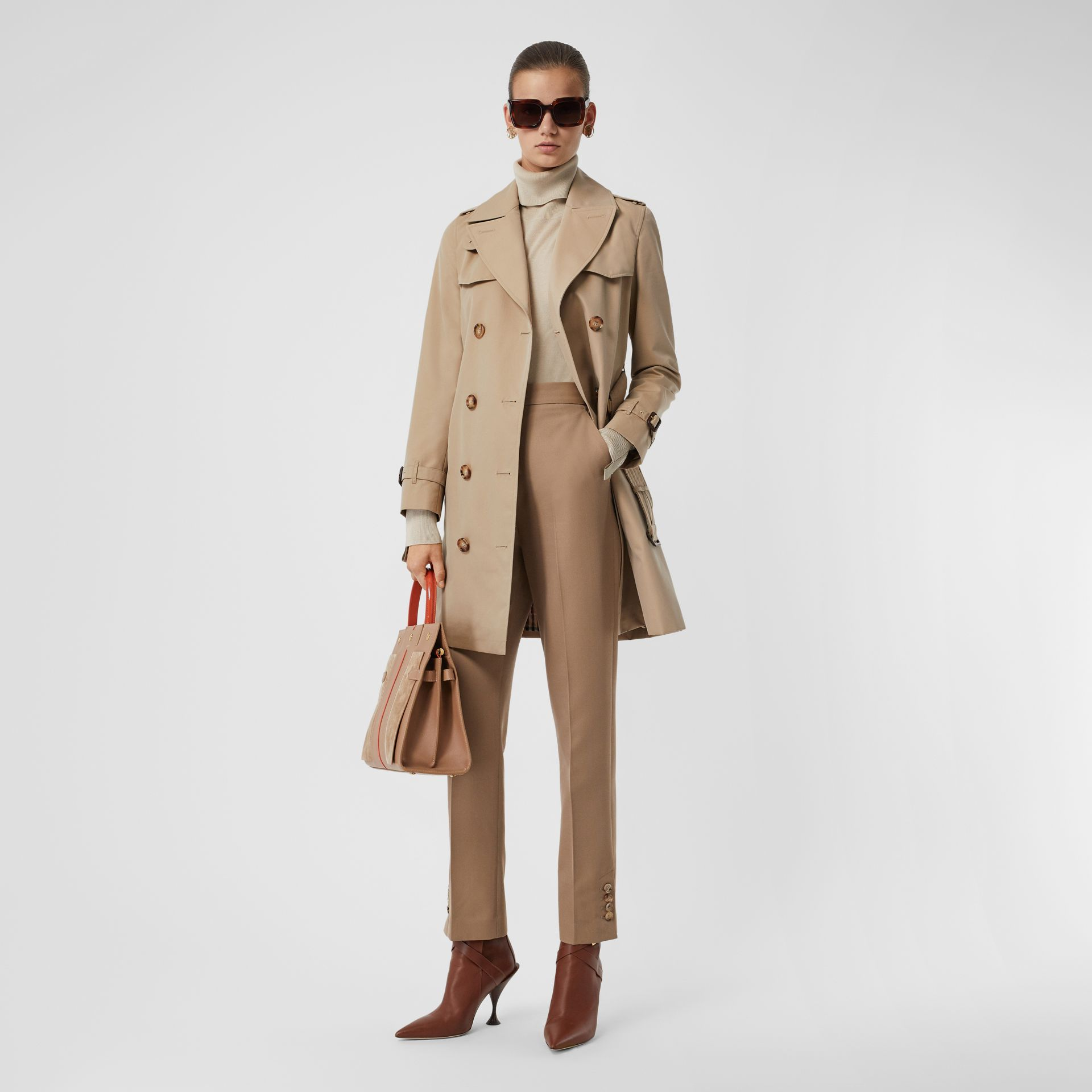 The Short Islington Trench Coat in Honey - Women   Burberry - gallery image 0