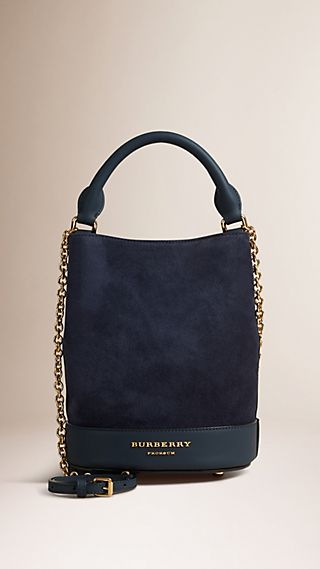 The Small Bucket Bag in Suede