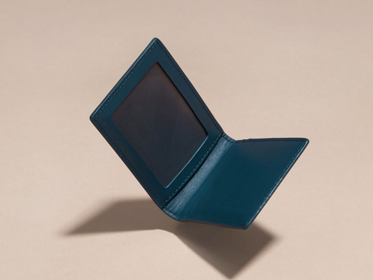 London Leather ID Wallet Mineral Blue - cell image 4