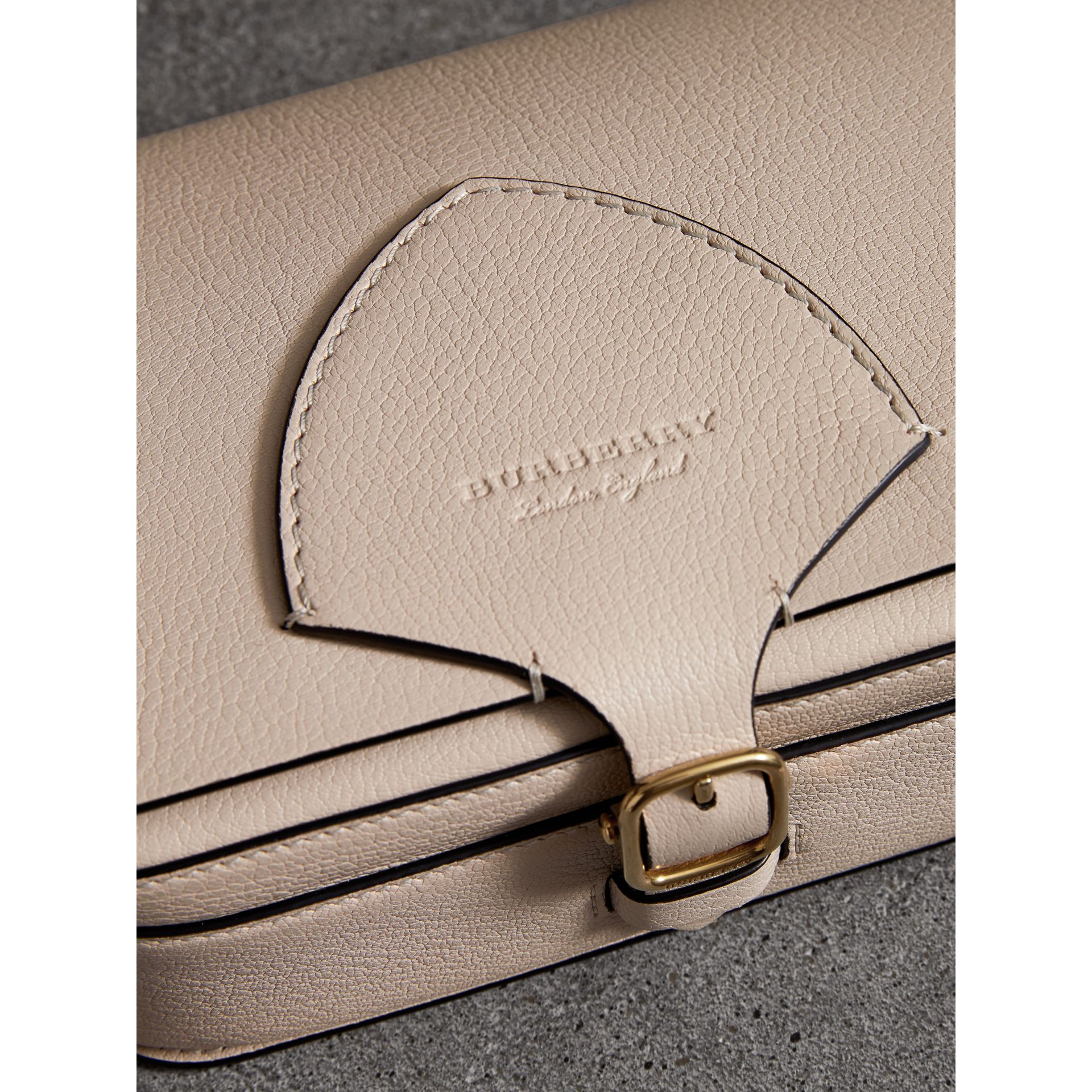 The Square Satchel in Leather in Stone - Women | Burberry United States - gallery image 1