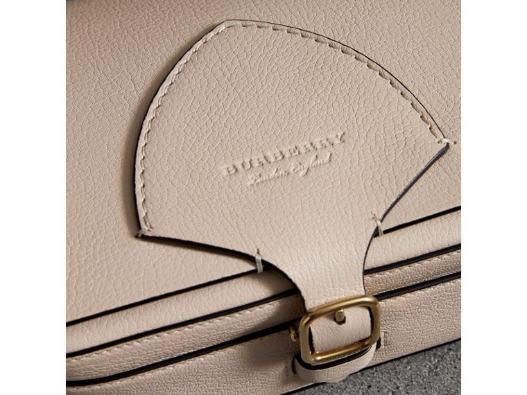 The Square Satchel in Leather in Stone - Women | Burberry United Kingdom - cell image 1