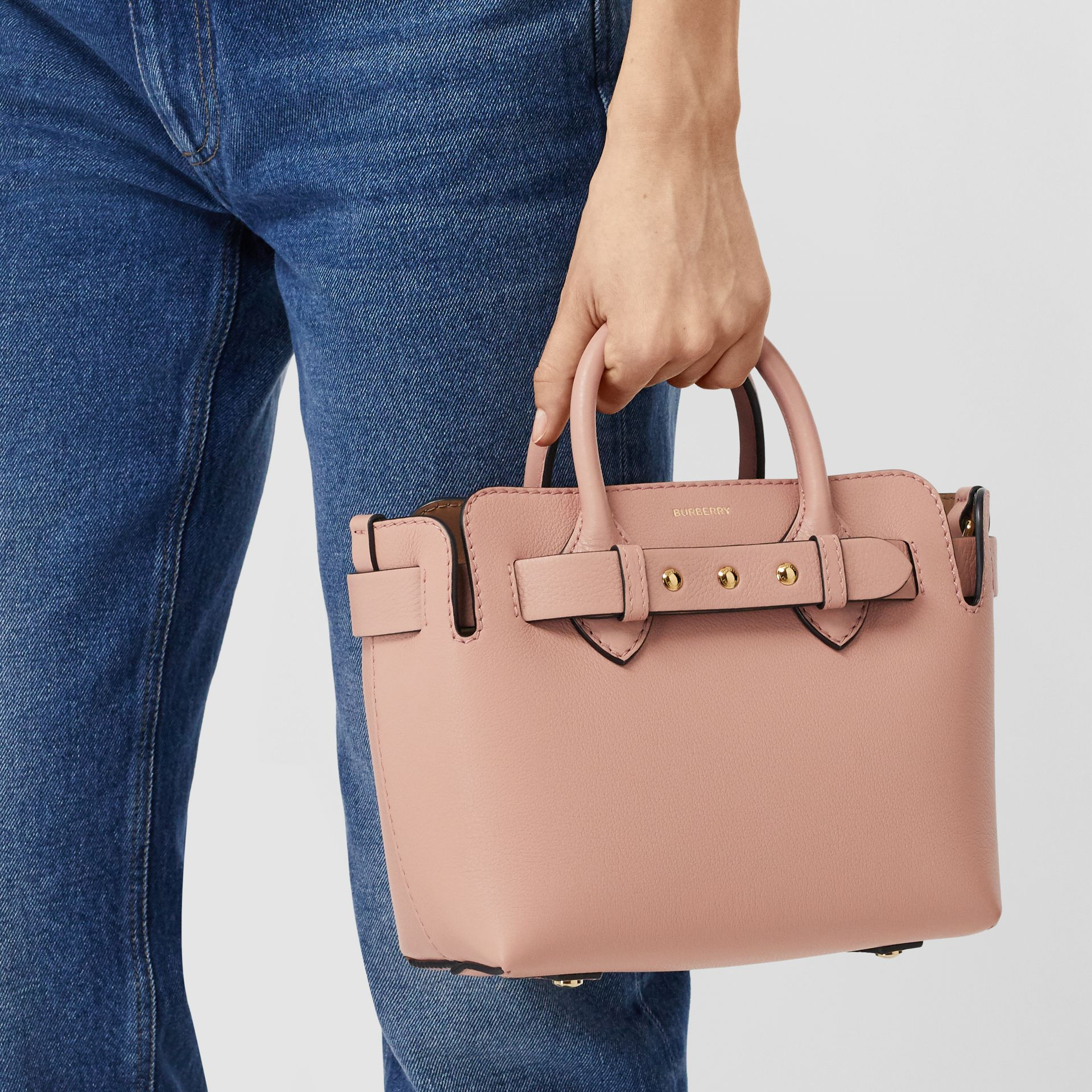 The Mini Leather Triple Stud Belt Bag in Ash Rose - Women | Burberry - gallery image 8