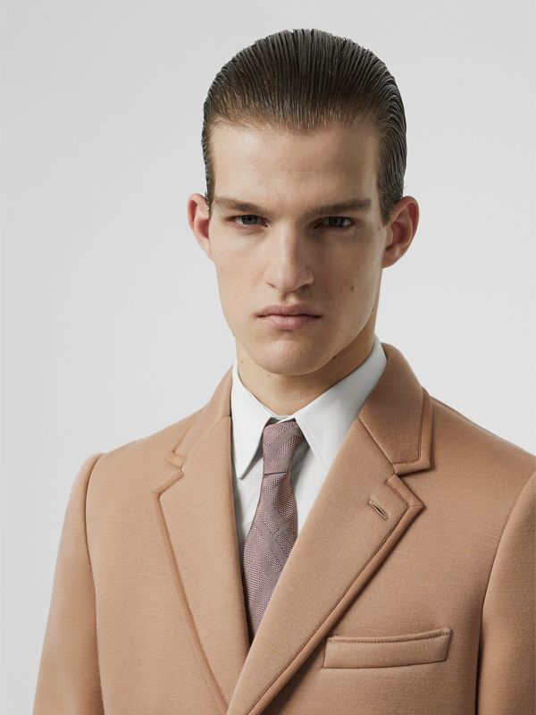Modern Cut Check Silk Jacquard Tie in Alabaster Pink - Men | Burberry Australia - cell image 2
