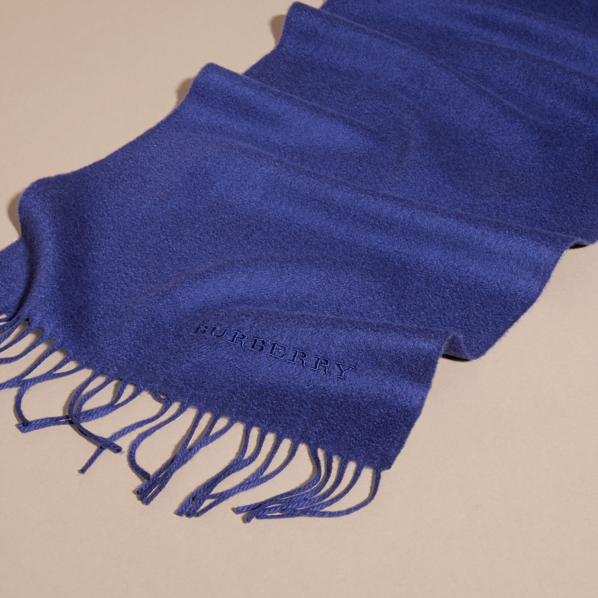 The Classic Cashmere Scarf in Bright Sapphire | Burberry Australia - gallery image 5