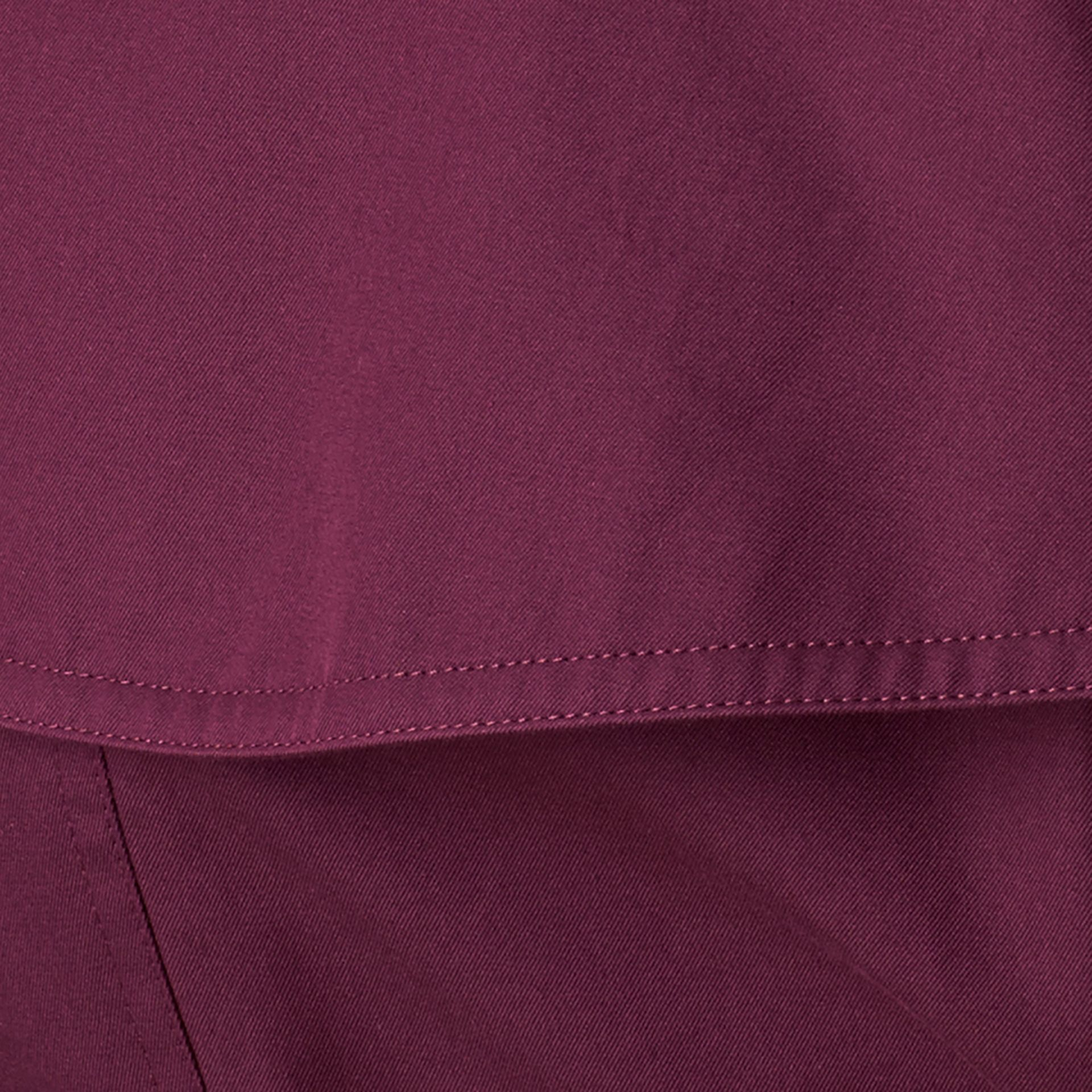 Bright burgundy Lightweight Cotton Gabardine Trench Coat - gallery image 2