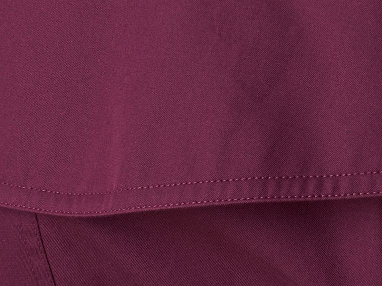 Bright burgundy Lightweight Cotton Gabardine Trench Coat - cell image 1