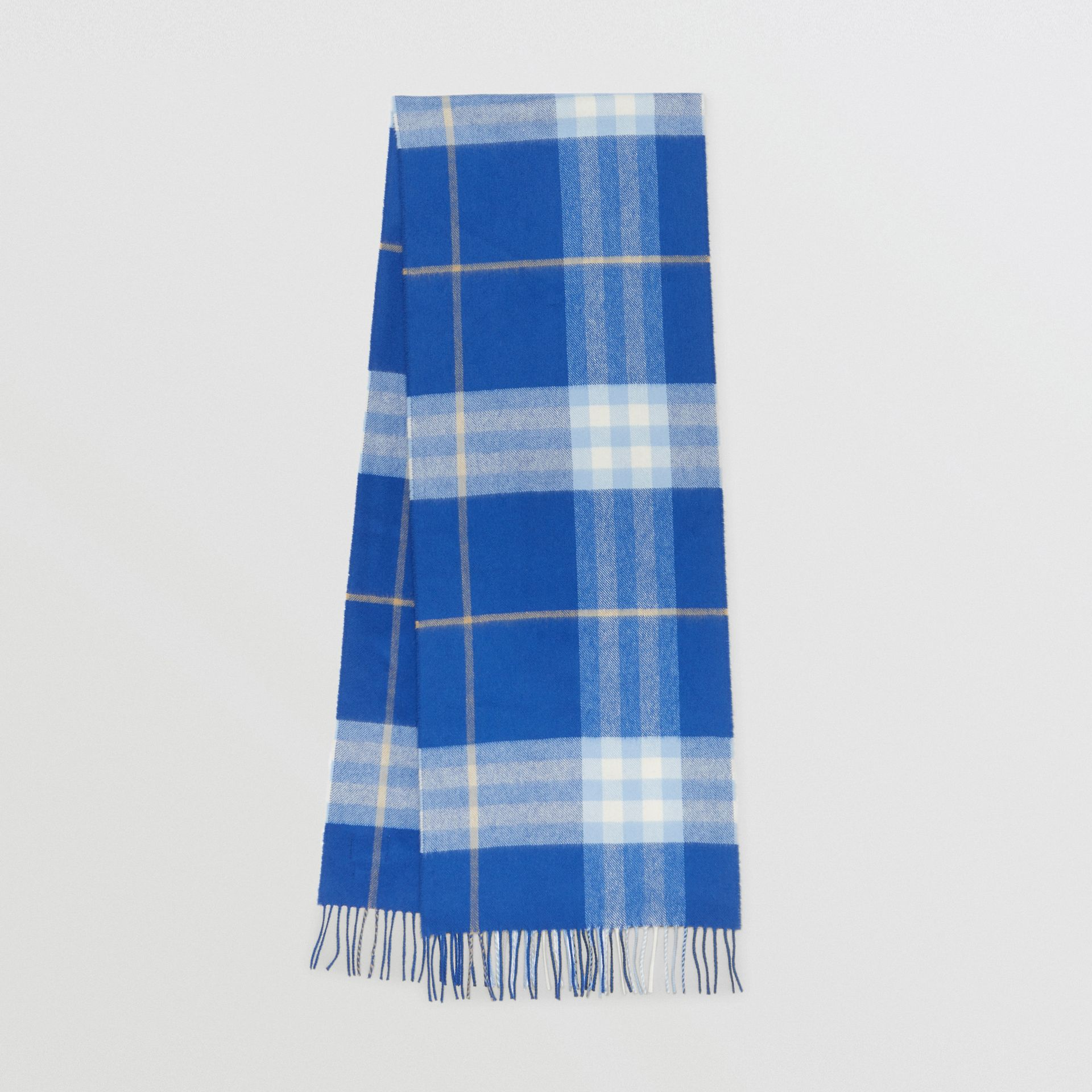 The Classic Check Cashmere Scarf in Inky Blue/bluebell | Burberry United Kingdom - gallery image 0