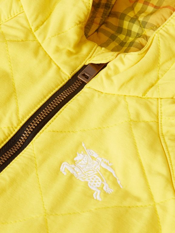 Diamond Quilted Cotton All-in-One in Yellow Citrine - Children | Burberry - cell image 1
