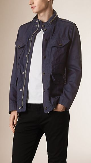 Hooded Denim Field Jacket