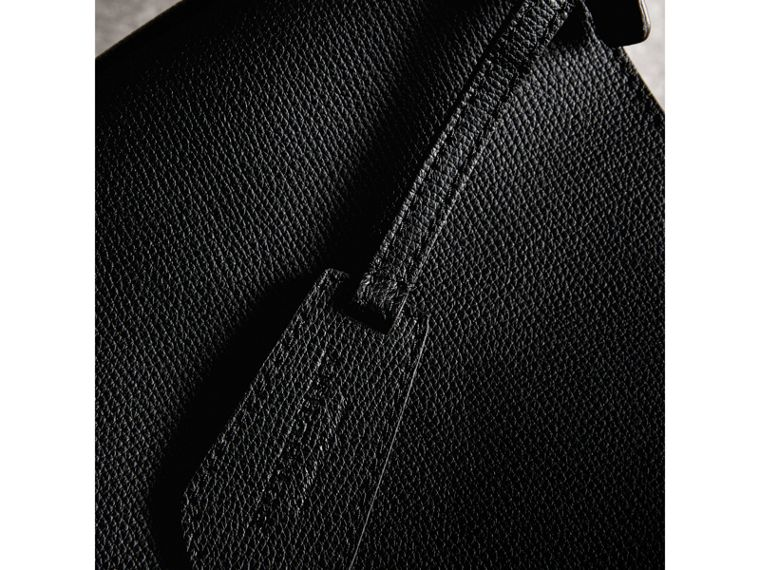 Leather and Haymarket Check Crossbody Bucket Bag in Black - Women | Burberry United States - cell image 1