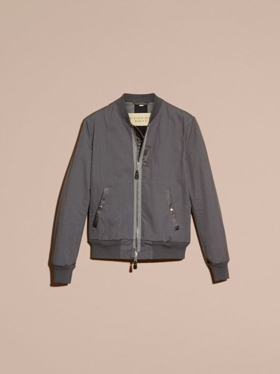 Airforce grey Matte Technical Cotton Bomber Jacket - cell image 3