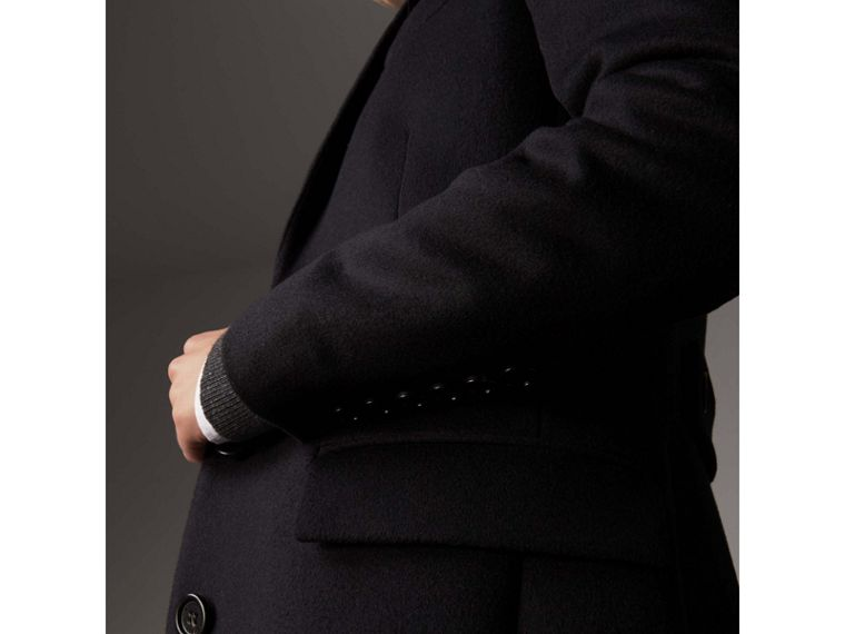 Wool Cashmere Tailored Coat in Black - Women | Burberry Australia - cell image 1
