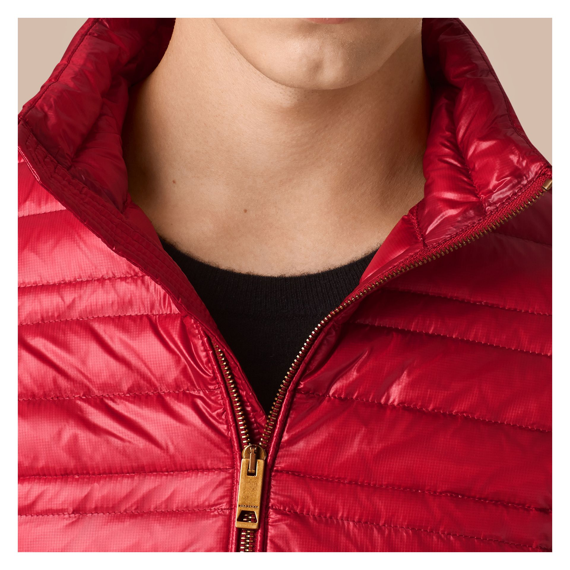 Lightweight Down-filled Jacket Parade Red - gallery image 2