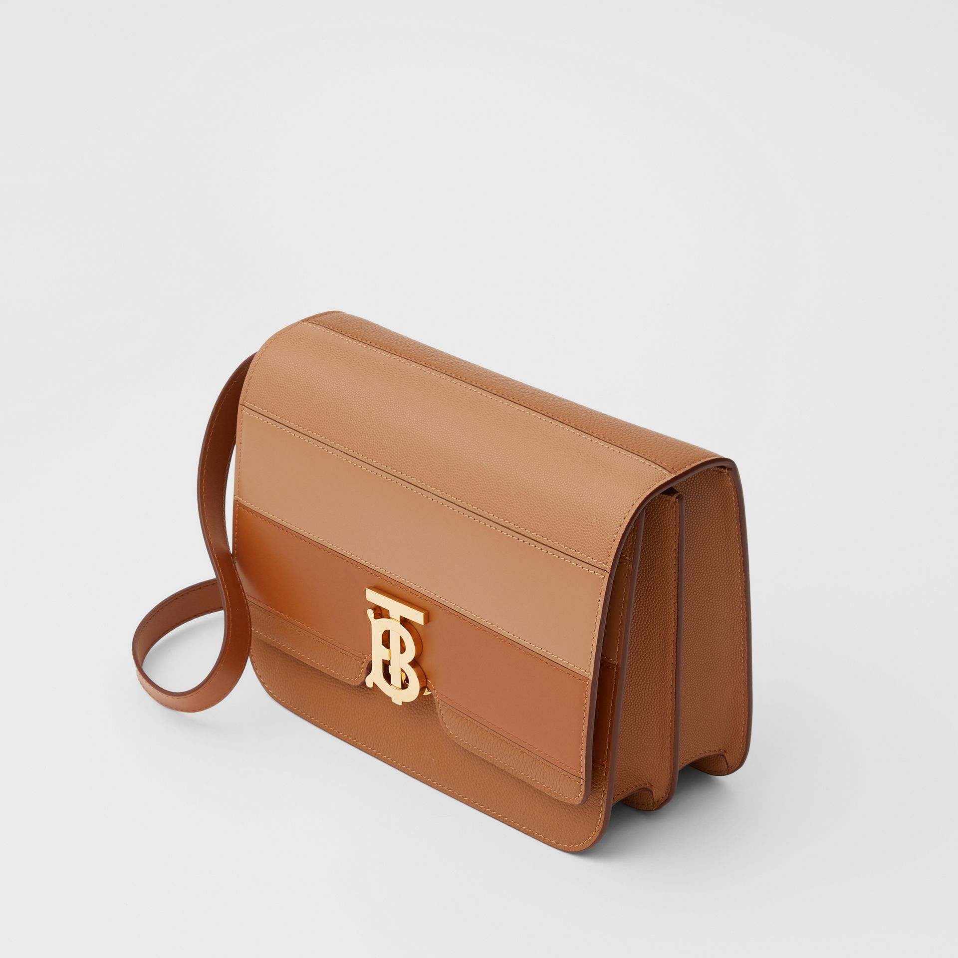 Medium Panelled Leather TB Bag in Maple - Women | Burberry - gallery image 2
